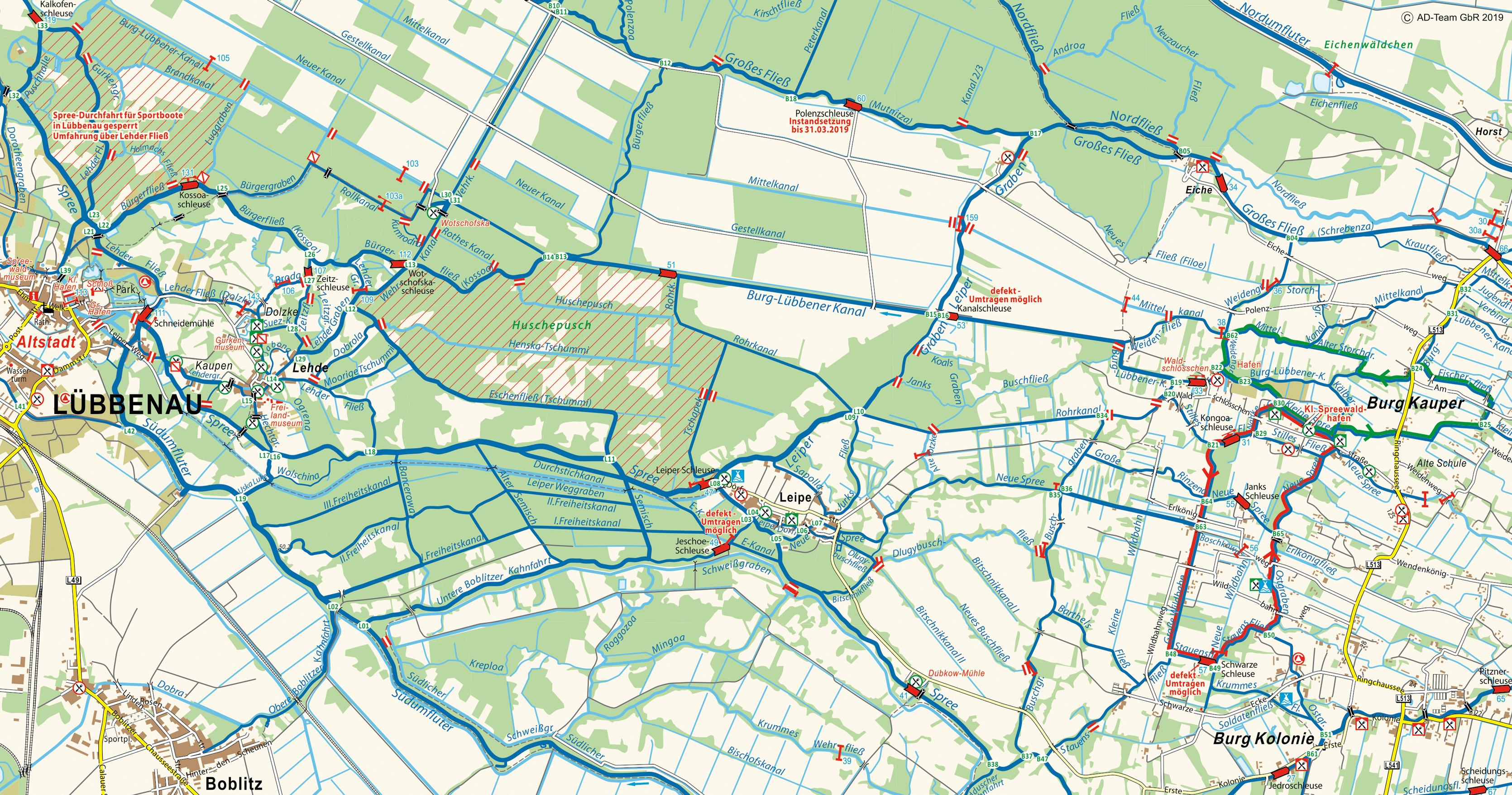 Karte Spreewald Lubbenau.Kleiner Spreewaldhafen Burg
